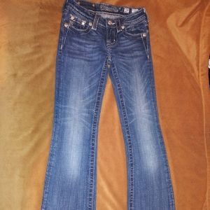 Girls Miss Me Boot Cut Jeans
